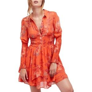 Free People Fit & Flare Peasant Dress